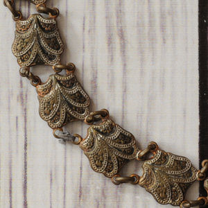 antique link bracelet old world style